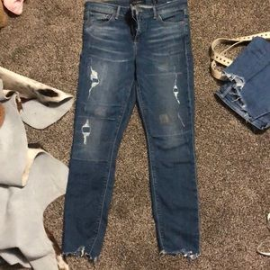 Lucky brand distressed jeans. Size 8/29